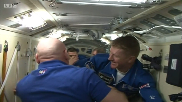 Tim greets NASA astronaut Scott Kelly